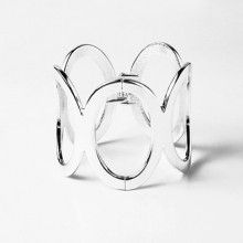 Giant Silver Ovals Fashion Bracelet
