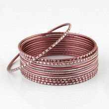 Light Pink Fashion Bangle Bracelet Set
