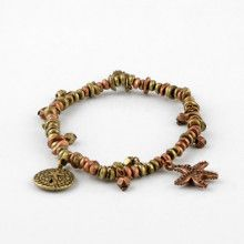 Bronze and Brass Seaside Charm Stretch Bracelet