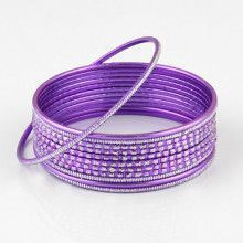 Purple Fashion Bangle Bracelet Set
