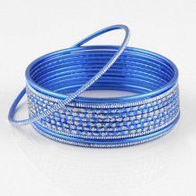 Blue Fashion Bangle Bracelet Set