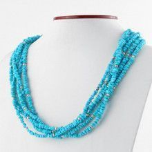 Turquoise Necklace with 5 Strands