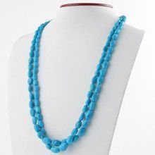 Two Layer Turquoise Nuggets Necklace