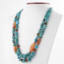 Turquoise Carnelian and Red Jasper Necklace