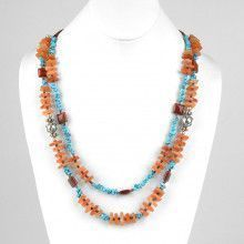 Carnelian Turquoise and Jasper Natural Necklace