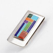 Southwestern Style Money Clip with Inlay