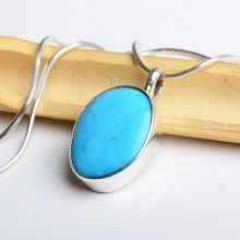 Small Natural Turquoise Pendant