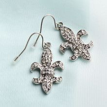 Fleur De Lis Fashion Earrings
