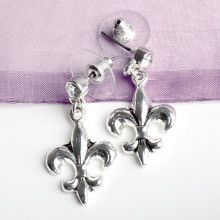 Fleur De Lis Fashion Stud Earrings