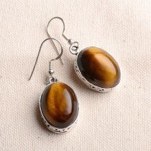 Tiger Eye Hook Earrings