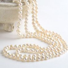 Super Long Freshwater Pearl Strand Necklace