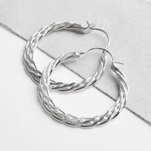 Layered Sterling Silver Hoop Earrings