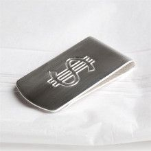 Wide Silver Money Clip