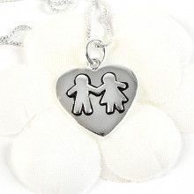 Sterling Silver Best Friends Pendant