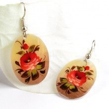 Painted Mother of Pearl Earrings