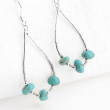 Turquoise Nugget Trio Earrings