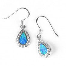 Opal & Crystals Drop Earrings