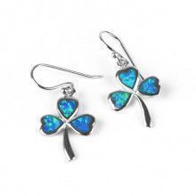 Opal Shamrock Earrings
