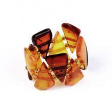 Colors of Amber Stretchy Ring