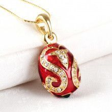 Red & Gold Egg Pendant