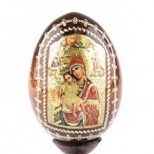 Madonna & Child Wooden Egg