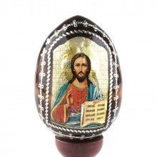 Icon of Jesus Wooden Egg