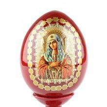 Russian Icon Egg Virgin Mary