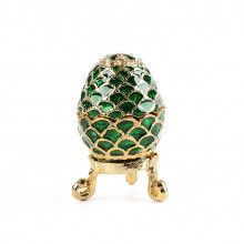 Miniature Faberge Egg Green