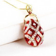 Fancy Faberge Egg Pendant