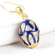 Lovely Blue Faberge Egg Pendant