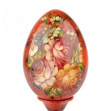 Flower Blossom Wooden Egg