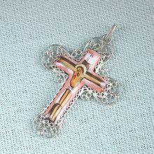 Finift Enamel Crucifix