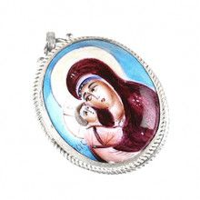 Finift Mary Icon Locket