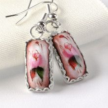 Pretty Pink Finift Earrings
