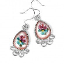 Pretty Finift Enamel Earrings