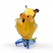 Miniature Glass Owl Figurine