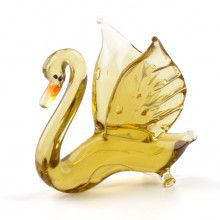 Gracious Swan Glass Figurine