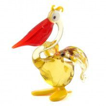 Glass Blown Pelican Figurine