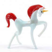 Mystic White Unicorn with Red Mane