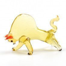 Fighting Bull Glass Figurine