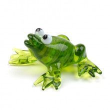 Cute Frog Glass Figurine