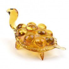 Glowing Turtle Glass Figurine