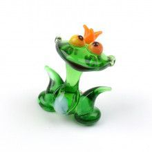 Tiny Princess Frog Glass Figurine
