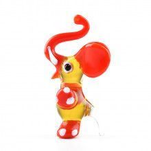 Circus Red Elephant Glass Figurine
