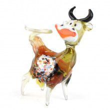 Laughing Cow Glass Figurine