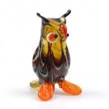 Smart Owl Glass Figurine