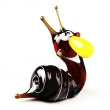 Happy Snail Glass Figurine
