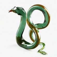 Snake Glass-Blown Figurine