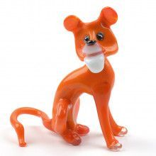 Careless Tiger Glass Figurine