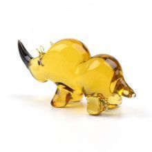 Rhino Glass Figurine
